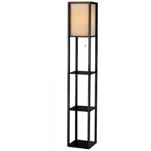 Contemporary Shelf Floor Lamp - Black
