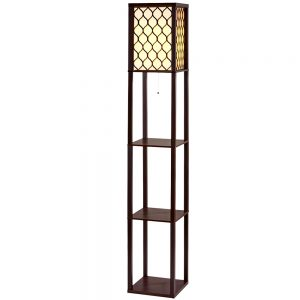 Vintage Shelf Floor Lamp - Brown