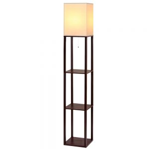 Shelf Floor Lamp - Brown