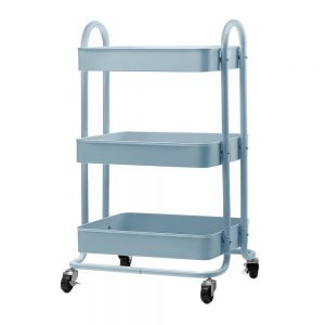 3 Tier Rolling Storage Cart - Blue