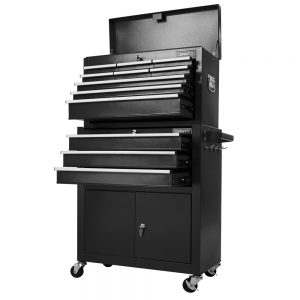 12 Drawer Tool Chest & Trolley - Black