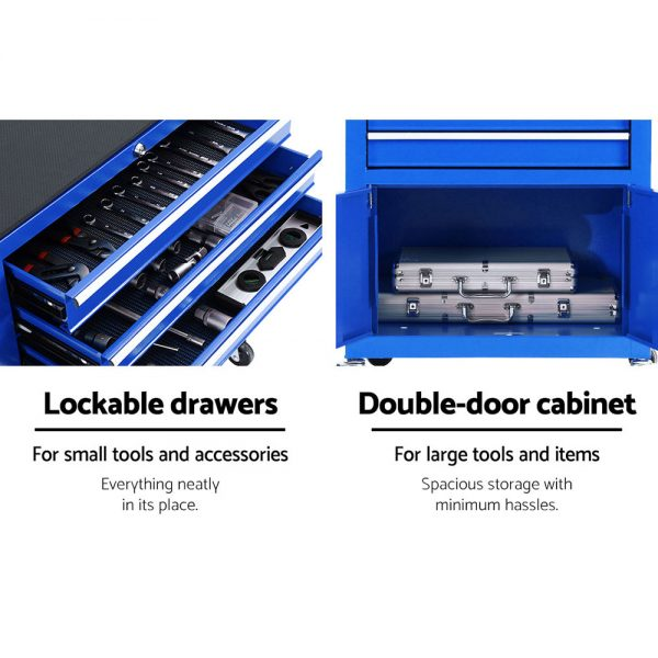 12 Drawer Tool Chest & Trolley - Blue