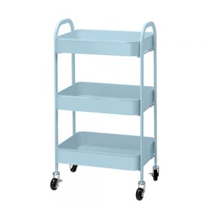 3 Tier Rolling Storage Trolley - Blue