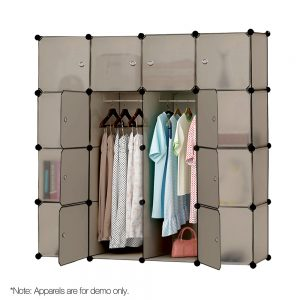 16 Cube Storage Cabinet - Sand Brown