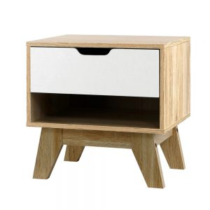 Two-Tone Bedside Table