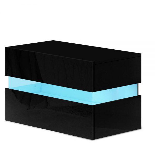 Lume LED Bedside Table - Black