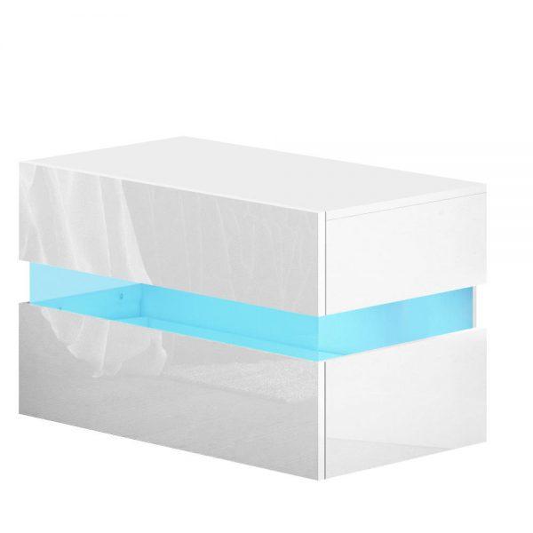Lume LED Bedside Table - White