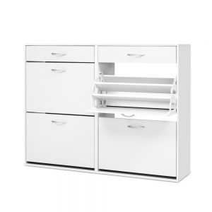 36 Pair Shoe Cabinet - White