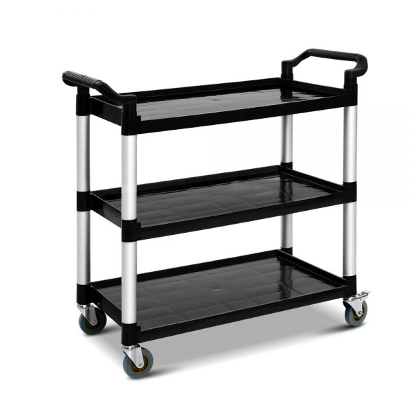 Large Service Cart - Black