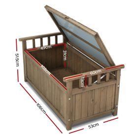 Outdoor Storage Box & Bench - Brown