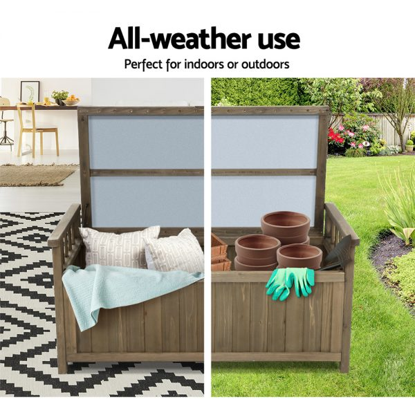 Outdoor Storage Box & Bench - Brown