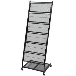 Magazine Rack Black - A4