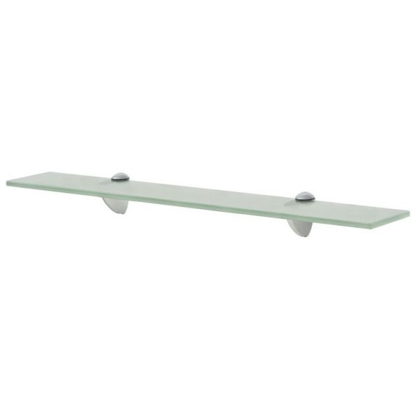Frosted Glass Floating Wall Shelf – 60cm x 10cm