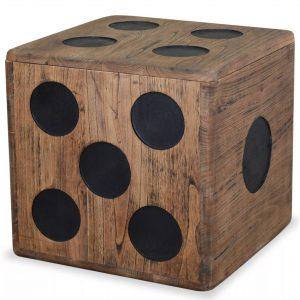 Storage Box Mindi Wood - Dice Design
