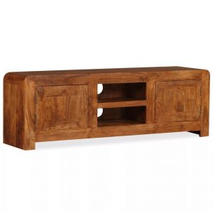 TV Cabinet Solid Wood with Sheesham Finish