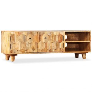 TV Cabinet Solid Mango - Wood