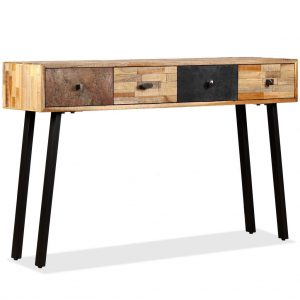 vidaXL Console Table 120x30x76 cm Solid Reclaimed Teak