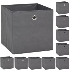 Storage Boxes - Non-woven Fabric Grey