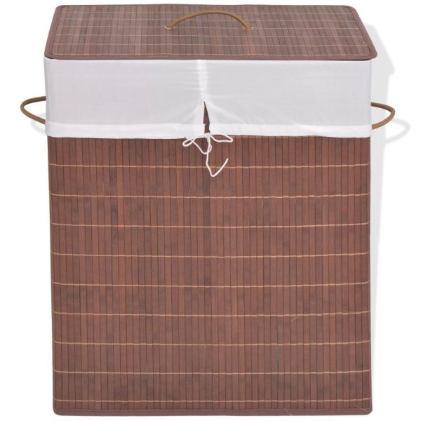 Rectangular Laundry Bin – Brown