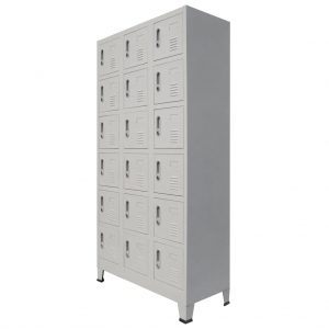 Locker Cabinet with 18 Compartments Metal