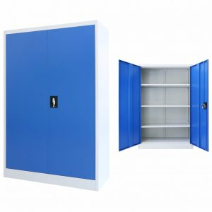 Office Cabinet Metal - Grey and Blue