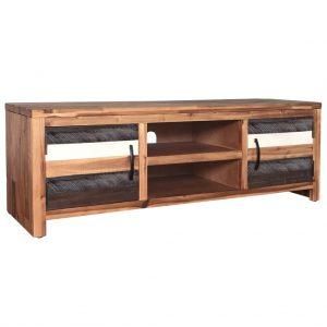 TV Cabinet Solid Acacia Wood