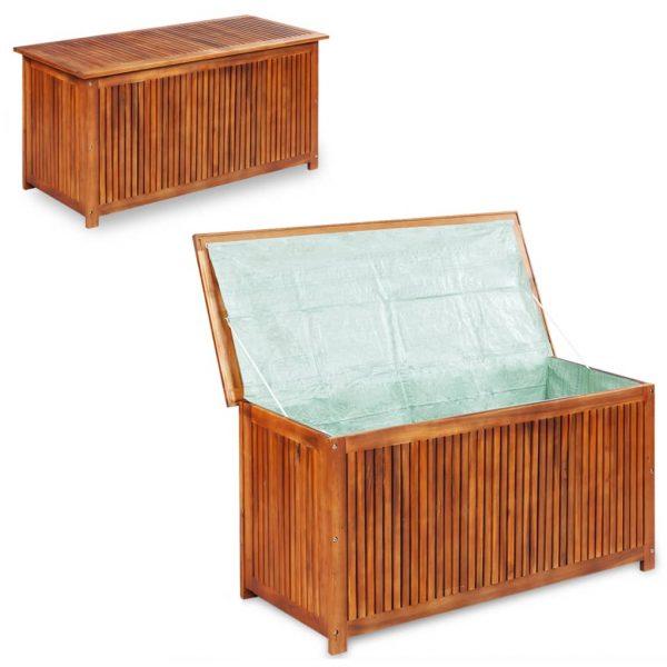 Garden Storage Box - Solid Acacia Wood