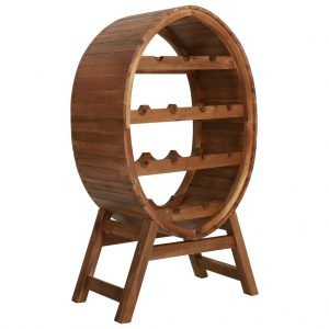 Wine Rack 13 Bottles - Solid Acacia Wood