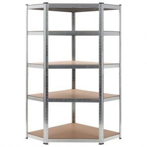 Storage Shelf Silver - Steel and MDF