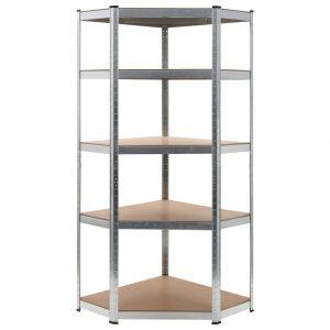 Storage Shelf Silver - Steel and MDF