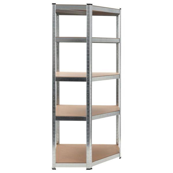Small Corner Storage Shelf - Silver