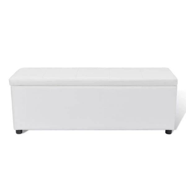 Medium Storage Bench – White