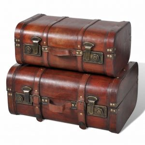 Wooden Treasure Chests - Vintage Brown