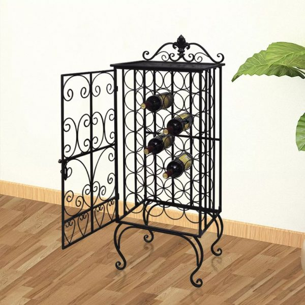 28 Bottle Metal Wine Rack