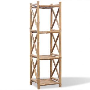 4-Tier Square Bamboo Shelf