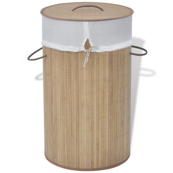 Round Laundry Bin – Natural