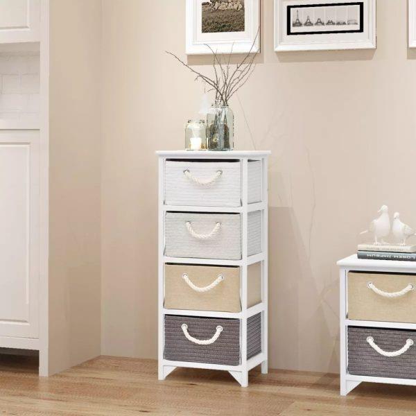 4 Drawer Wooden Storage Cabinet