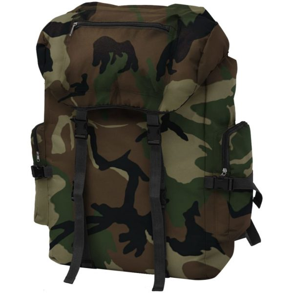 Army-Style Backpack - Camouflage