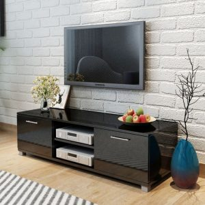 TV Cabinet High Gloss - Black