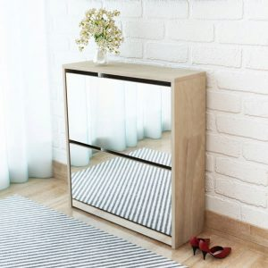 Shoe Cabinet 2 Layer - Mirror