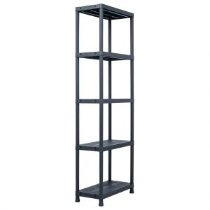 Storage Shelf Rack - Black 125 kg Plastic
