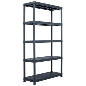 Storage Shelf Rack - Black 500 kg Plastic