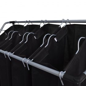 Laundry Sorters with Bags – Black and Grey