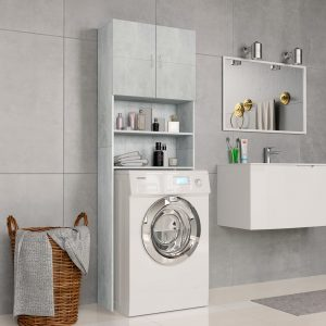 Washing Machine Cabinet Concrete - Grey Chipboard
