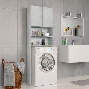 Washing Machine Cabinet Concrete - Grey Chipboard