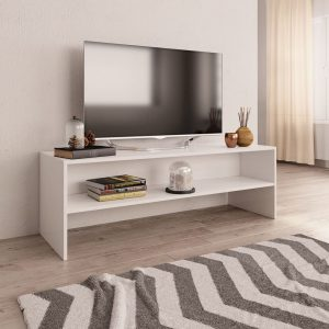 TV Cabinet White-Chipboard