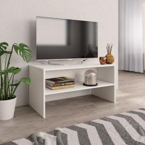 TV Cabinet White -Chipboard