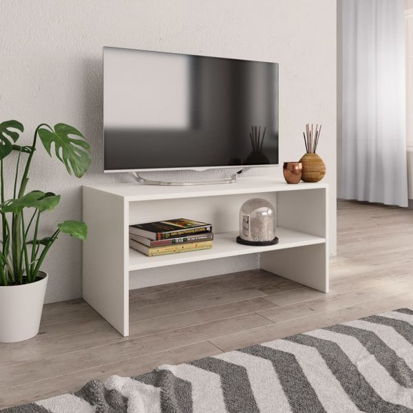 TV Cabinet White -Chipboard