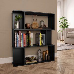 vidaXL Book Cabinet/Room Divider Black 80x24x96 cm Chipboard