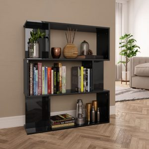Book Cabinet - High Gloss Black